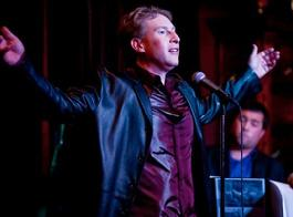 Chris M. Allport performing live with his Cabaret Band
